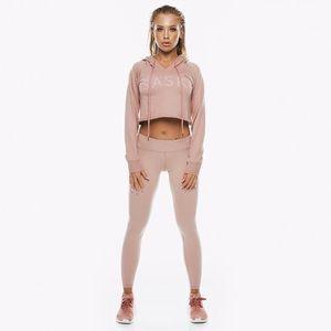 NWOT Saski Collection Dusty Pink Midwaist Leggings